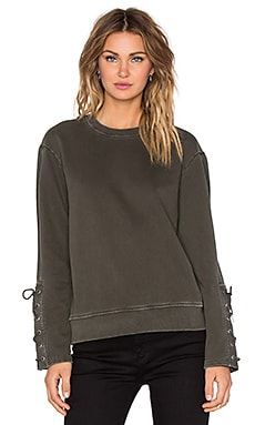 Marc by Marc Jacobs Vintage Tie Sleeve Sweatshirt in Kelp Green