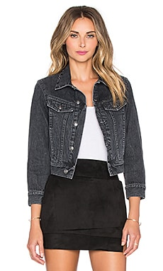 Shrunken Denim Jacket in Authentic Black
