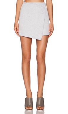 Marc by Marc Jacobs Jersey Wrap Skirt in Silver Grey Melange