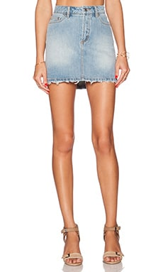 Marc by Marc Jacobs Icon Mini Skirt in Cloud Blue Ripped