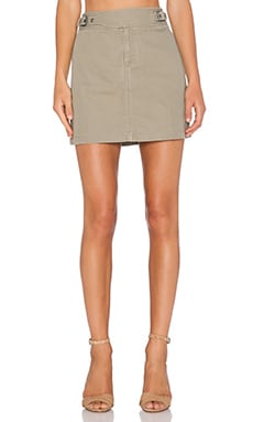Marc by Marc Jacobs Greenwich Army Cotton Skirt in Safari