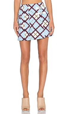Marc by Marc Jacobs Stretch Poplin Skirt in Robin Blue Multi