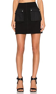 Marc by Marc Jacobs Double Pocket Mini Skirt in Black