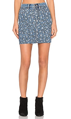 Marc by Marc Jacobs Pencil Skirt in Painted Leopard