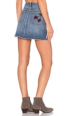Marc by Marc Jacobs Denim Mini Skirt in Authentic Blue