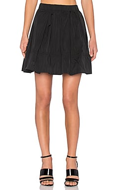 Marc by Marc Jacobs Solid Gathered Skirt in Black