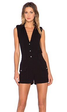 Marc by Marc Jacobs Crepe Romper in Black
