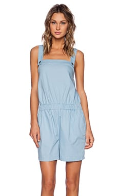 Marc by Marc Jacobs Ash Cotton Romper in Ore Blue