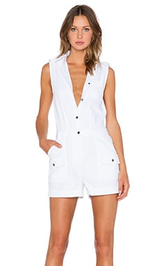 Marc by Marc Jacobs Greenwich Army Cotton Romper in White