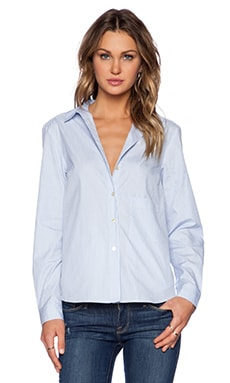 Marc by Marc Jacobs Candy Stripe Shirt in Pacific Blue Multi