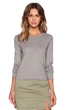 Marc by Marc Jacobs Long Sleeve Favorite Tee in Elephant Grey Melange
