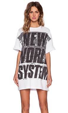 Marc by Marc Jacobs New World System Tee in White Multi