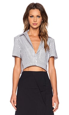 Marc by Marc Jacobs Venice Stripe Crop Top in Gunmetal Multi