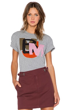 Marc by Marc Jacobs Layered Tee in Elephant Grey Multi
