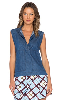 Marc by Marc Jacobs Indigo Denim Top in Blow Blue