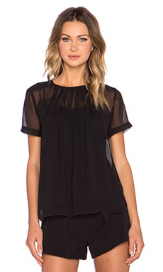 Marc by Marc Jacobs Marquee Georgette Top in Black