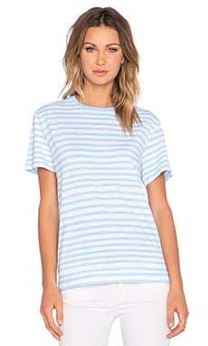 Marc by Marc Jacobs Sketch Stripe Tee in Robin Blue Multi