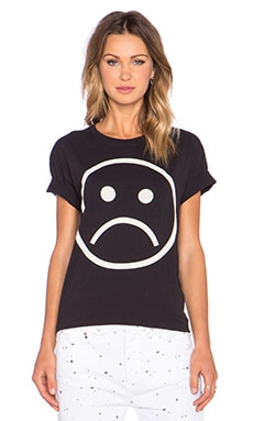 Marc by Marc Jacobs Sad Face Tee in Black Multi