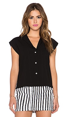 Marc by Marc Jacobs Irving Crepe Top in Black