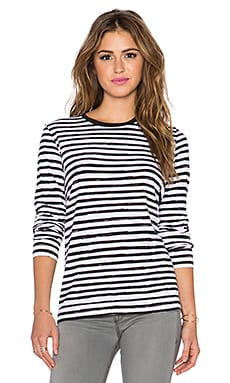 Marc by Marc Jacobs Sketch Stripe Tee in Black Multi