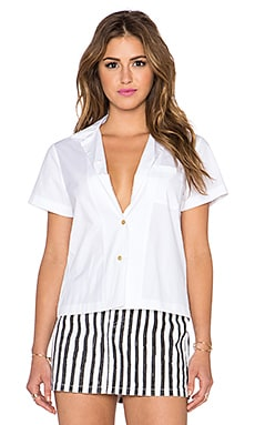 Marc by Marc Jacobs Stretch Poplin Shirt in White