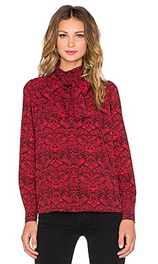 Marc by Marc Jacobs Strawberry Thief Blouse in Ruby Red Multi