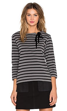 Marc by Marc Jacobs Jacquelyn Stripe Long Sleeve Top in Smoked Pearl Multi
