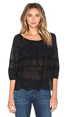 Marc by Marc Jacobs Broiderie Anglaise Top in Black