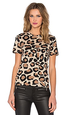 Marc by Marc Jacobs Big Painted Leopard Tee in Light Tan Muti
