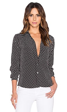 Marc by Marc Jacobs Viscose Polka Dot Blouse in Black Multi