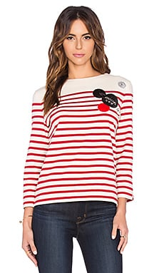 Marc by Marc Jacobs Breton Stripe Top in Breton Red Multi