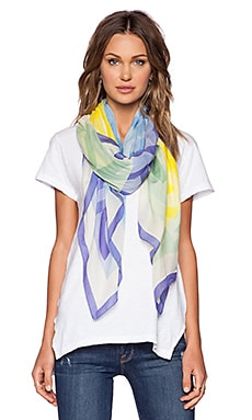 Marc by Marc Jacobs Tissue Logo Scarf in Disco Yellow Multi