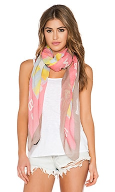 Marc by Marc Jacobs Washed Ink Scarf in Piggy Pink Multi