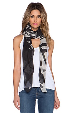 Marc by Marc Jacobs Drippy Plaid Scarf in Black Multi