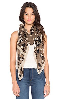 Marc by Marc Jacobs Dotty Flora Scarf in Granite Multi