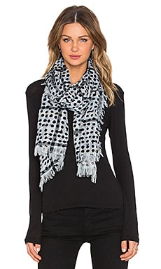 Marc by Marc Jacobs Painted Dot Gingham Scarf in Black Multi