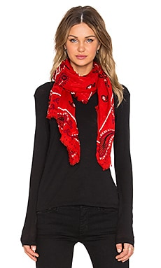 Marc by Marc Jacobs William Paisley Scarf in Ruby Red Multi