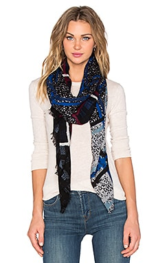 Marc by Marc Jacobs New Q Chalky Tartan Scarf in True Blue Multi