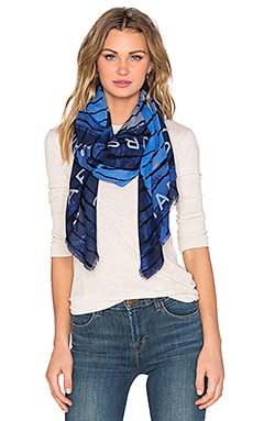 Marc by Marc Jacobs Bolt Stripe Square Scarf in True Blue Multi