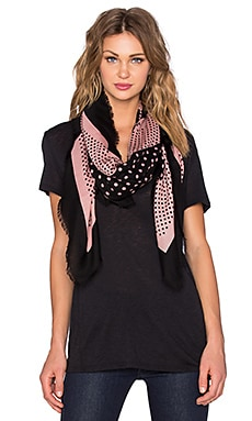 Marc by Marc Jacobs Polka Dot Square Scarf in Nude Peach Multi