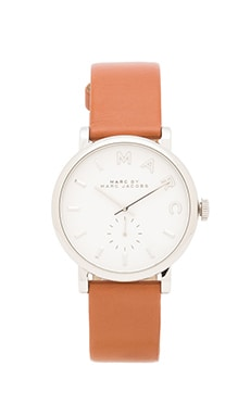 Marc by Marc Jacobs Baker Watch in Tan & Silver