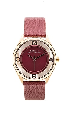Marc by Marc Jacobs Tether Watch in Red Canyon