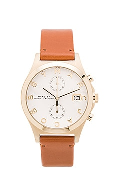 Marc by Marc Jacobs The Slim Chrono Watch in White & Tan
