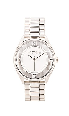 Marc by Marc Jacobs Tether Watch in Silver Sunray