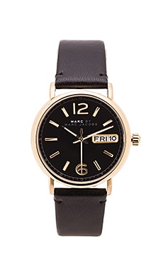 Marc by Marc Jacobs Fergus Watch in Black