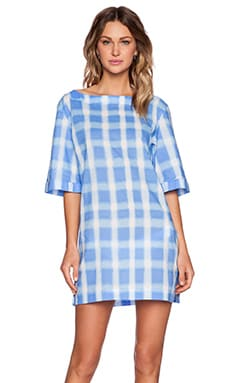Marc by Marc Jacobs Blurred Gingham Lawn Courtney Tunic in Conch Blue Multi