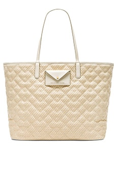Marc by Marc Jacobs Metropolitote Straw Beach Tote in Leche