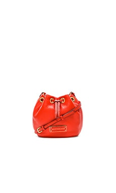Marc by Marc Jacobs Too Hot to Handle Mini Drawstring Bucket Bag in Bright Tangelo
