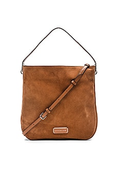 Marc by Marc Jacobs Ligero Sporty Suede Hobo Tote in Cinamon Stick