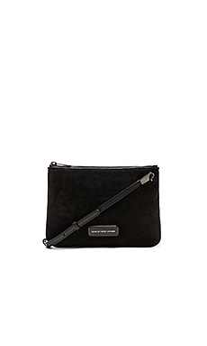 Marc by Marc Jacobs Ligero Sporty Suede Double Percy Crossbody in Black